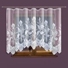 Amazing Stylish Flowers White Jacquard Net Curtain READY-MADE 310 X 160cm SALE!