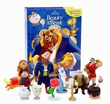 Disney Beauty and the Beast Busy Libros Set Pack 12 My Figuras & Playmat