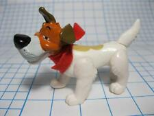 "Disney Oliver & Co Dodger the Dog-Jointed PVC Figure 3 1/2"" MCDONALDS RED SCARF"