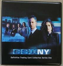 CSI New York Series 1 Trading Card Binder & 72 Card Base Set + Binder Pages