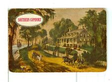 """Single Playing Card, """"Southern Comfort"""" Whiskey, Southern Scene, Currier/Ives"""