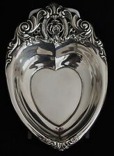 Wallace Sterling Silver Rose Point Bon Bon Heart Shaped Bowl 4630