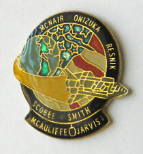 SPACE SHUTTLE CHALLENGER NASA STS-51-L MEMORIAL LAPEL PIN BADGE 1 INCH