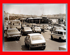 FOTOGRAFIA PHOTO VINTAGE B/N BLACK AND WHITE 1978 NAPOLI VIA CARACCIOLO AUTO BUS