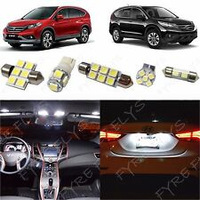 6x White LED lights interior package kit for 2007-2012 Honda CR-V HV1W