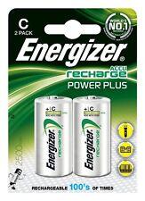 Energizer Dimensione C Batterie Ricaricabili 2 CONFEZIONI 2500 mAh Batteria Nuovo di Zecca
