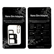 Nano SIM Card to MICRO Standard SIM Adapter converter SET For iPhone & Samsung *