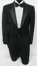 Black Tuxedo Tailcoat Halloween Costume Vampire Dracula Dickens Cosplay 38S