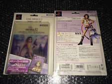 FINAL FANTASY X-2 Official PS2 MEMORY CARD & CASE HORI YUNA Japan 8Mb MC