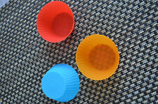 Round Shape Silicone Cupcake Cake  Soap Candy Molds**6 pcs Free postage