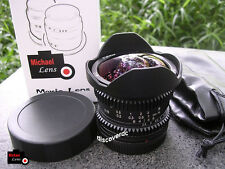 8mm F2.8 MF Fisheye Lens for MFT M4/3 Panasonic GF7 GF8 GH3 GH4 Olympus EP5 EPL7