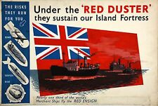 WW2 RECRUITMENT POSTER BRITISH MERCHANT NAVY THE RED DUSTER ENSIGN NEW A4 PRINT