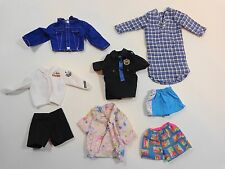 Barbie KEN Doll Clothing Lot 8 Pieces Police Shirt Navy Tops Shorts Pajama