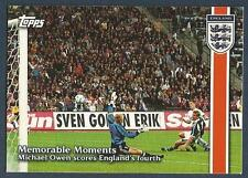 TOPPS ENGLAND 2002- #35-MEMORABLE MOMENTS-M OWEN HITS HIS HAT-TRICK V GERMANY