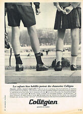 PUBLICITE ADVERTISING 015  1965  COLLEGIEN   chaussettes enfants