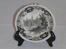 Antique TRANSFER WARE CUP PLATE MULBERRY Black Staffordshire English Country G