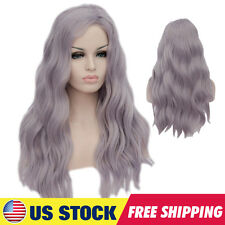 US STOCK Womens Long Wavy Haloween Cosplay Lolita Full Wigs Costume Synthetic