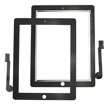 A+ For iPad 3 4 Black Touch Screen Digitizer Front Glass Repairing Part