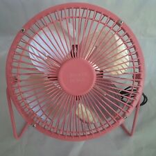 CHECKYS DEALS 6 INCH METAL FAN USB CONNECT PINK COMPUTER OFFICE WORK HOME CAR