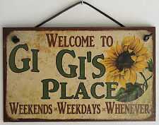 Gi Gi s Sign Place House Welcome Love Grandma Mom Grand Parent Mother Best #1