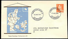 Denmark 1961, 80ore King Frederik IX Definitive FDC First Day Cover #C21273