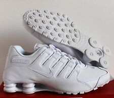 Nike Men Shox NZ White/White SZ 12 [378341-128]