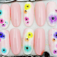 1 Sheet Adhesive 3D Nail Art Sticker Decal Colorful Small Flower Manicure XF3001