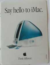 Apple Sticker Think Different Say Hello To iMac Computer