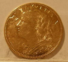 Switzerland 1915B Gold 10 Francs UNC