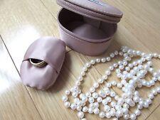 PRADA small travel jewelry box  Mauve pink