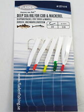 6 Packs Daylight 5 Hook Size 3/0 Fishing Mackerel Feathers Lures Sea Pollack