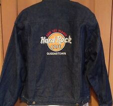 Hard Rock Cafe Jacket L Queenstown Australia Blue Jean Denim Excellent Condition
