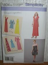 Womens/Misses Dresses In 2 Lengths Sewing Pattern/Simplicity 1804/SZ 14-22/N