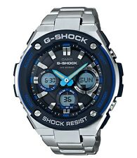 Casio G-Shock G-STEEL * GSTS100D-1A2 Solar Blue and Silver Steel Ivanandsophia