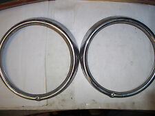 VW AirCooled Beetle headlight trim rings (steel)   BEST GUESS FITMENT  67-77