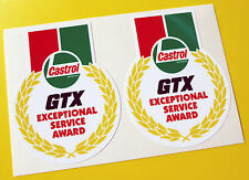 CASTROL GTX Classic Vintage Style 'Exceptional Service Award' stickers decals