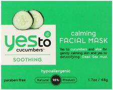 Yes To Calming Facial Mask, Cucumber and Aloe, Hypoallergenic 98% natural, 1.7Oz
