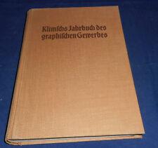 Klimschs Jahrbuch des graphischen Gewerbes Band 29 von 1936