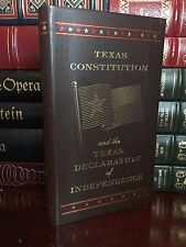 Texas Constitution & Declaration of Independence New Leather Bound Collectible