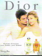 Publicité advertising 1998 Parfum Eau de Toilette Dune par Christian Dior
