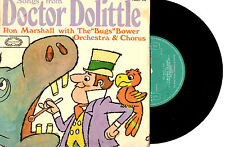 """RON MARSHALL & ORCH. - DR. DOLITTLE - EP 7"""" 45 RECORD PIC SLV 1968"""