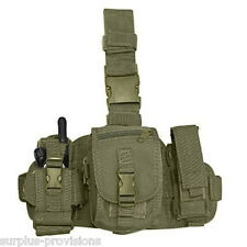 Condor - Utility Drop Leg Thigh Rig - Radio & Flashlight Pouches -OD Green #MA25