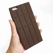 cover CASE silicone MORBIDO 3d iphone 6 6s cioccolata chocolate cioccolato