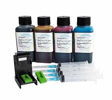 Refill kit for HP N° 301 301XL 400ml Inktec premium ink + refill clip + syringes