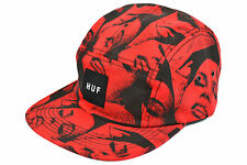 HUF GFE 5 PANEL CAP RED ADJUSTABLE DEADSTOCK SUPREME UNDEFEATED MADE IN USA