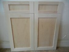 4pc set 2 replacement fronts doors 2 drawers maple natural wood 24''X15''