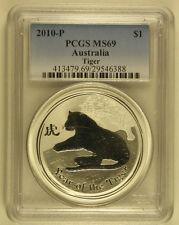 2010-P PCGS MS69 Australia Lunar 1oz Tiger (a80)