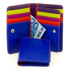 Mywalit Leather 13cm Trifold Purse Wallet 20 Credit Card Capacity Ultra Blue
