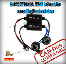 2 X P21W Ba15s 1156 Canbus No Error Aviso Led Carga resistencias-Plug And Play