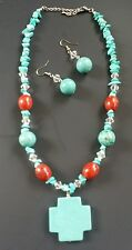 ✴Turquoise necklace and earring set